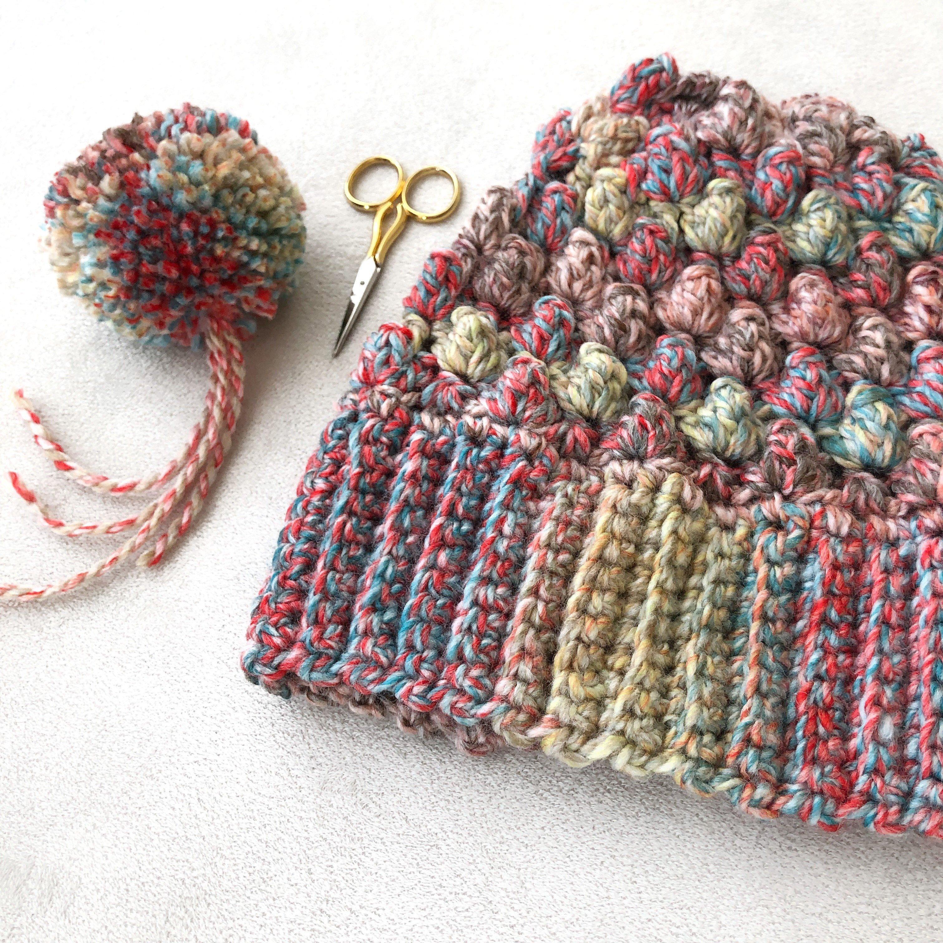 Free Crochet Puff Shell Beanie Pattern
