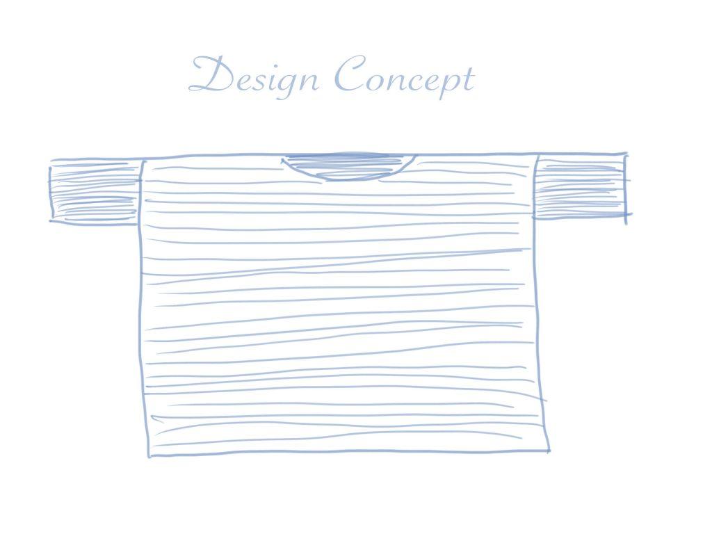 Design Concept for a Pullover Crochet Sweater.