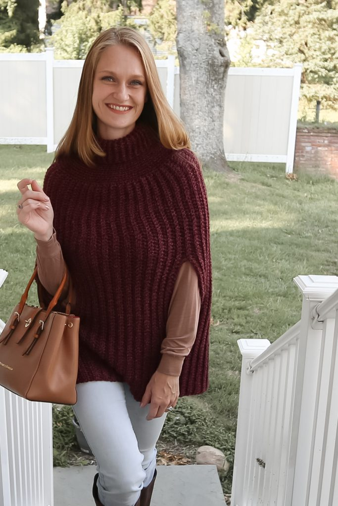 A Pullover Crochet Poncho with a Collar!