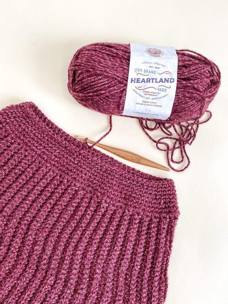Easy Crochet Poncho Pattern Collar Detail.