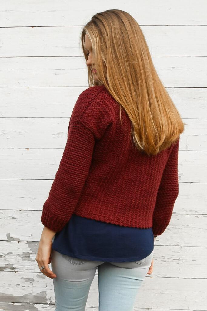 Simple crochet fall cardigan