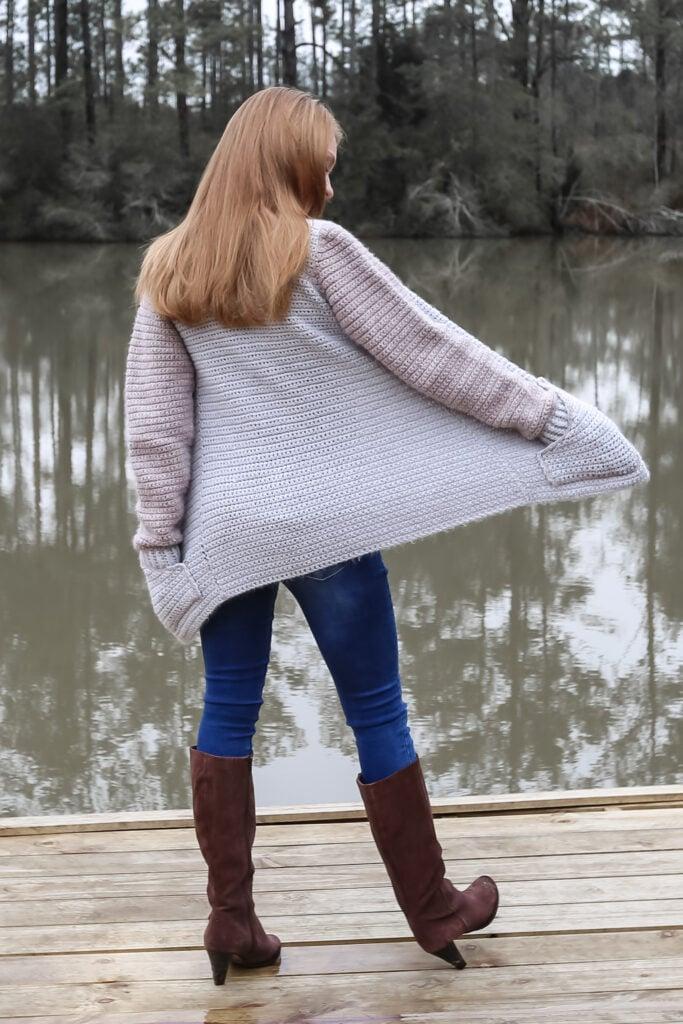 Cozy Crochet Cardigan with Pockets