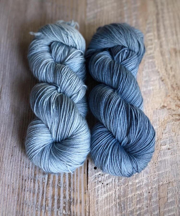 Blue Fingering Weight Yarn.